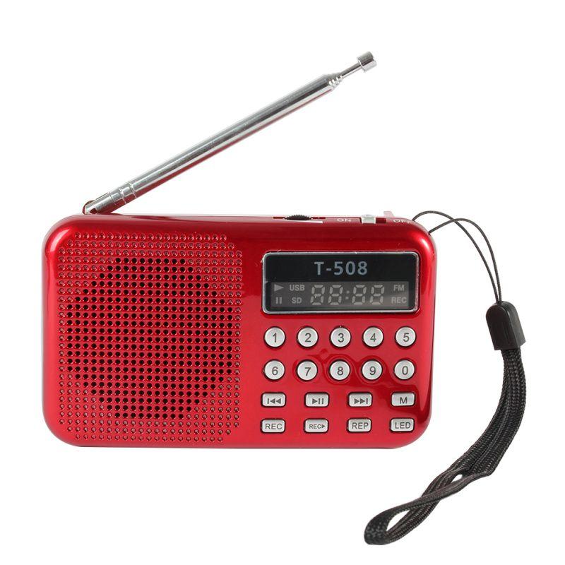 portable lcd digital fm radio speaker usb micro lcd sd tf. Black Bedroom Furniture Sets. Home Design Ideas