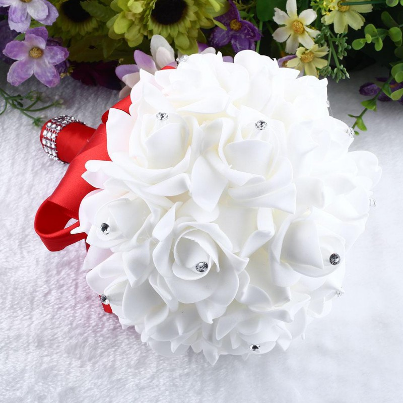US Rose Flower Bridal Bride Wedding Bouquet Bridesmaid Banquet Home ...