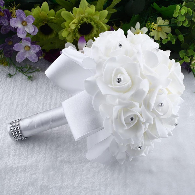 USA Rose Flower Bridal Bride Wedding Bouquet Bridesmaid Banquet Home ...