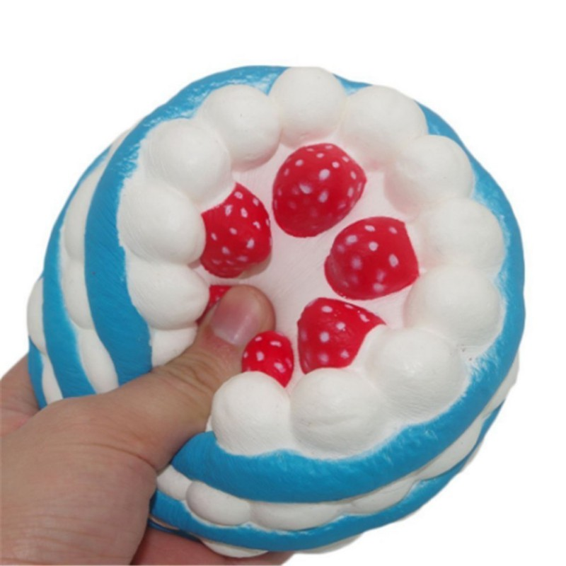 Stress Relief Toys : Squishy strawberry cake cream stress relief toys scented