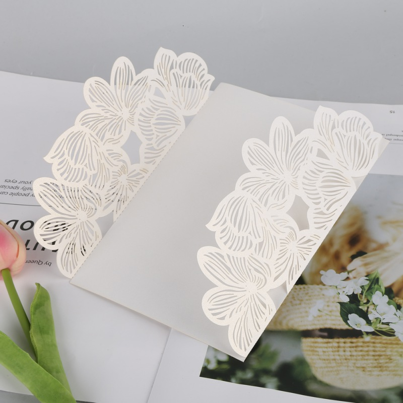 10pc white floral wedding invitation card personalized romantic 10pc white floral wedding invitation card personalized romantic stopboris Choice Image