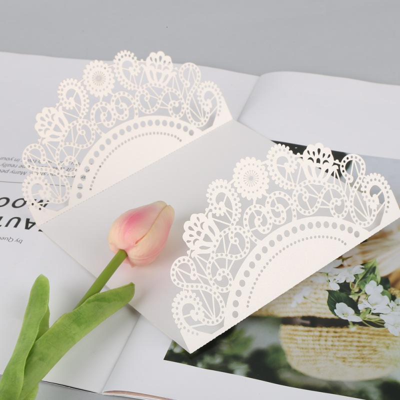 US 10pcs Set Floral Laser Cut Wedding Invitation Card Party Blank ...