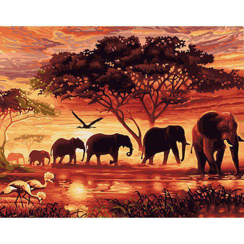 Unframed DIY Malen nach Zahlen 40 x 50 cm Animals ...
