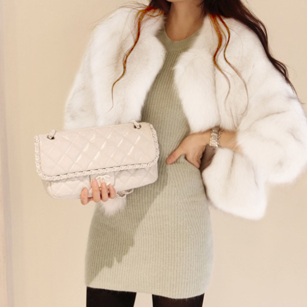 Chic Women Ladies Long Sleeve Faux Fur Warm Overcoat Short Coat ...