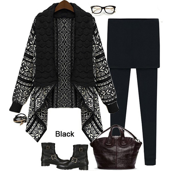 Women Long Sleeve Loose Sweater Outwear Knitted Cardigan Coat Casual Sweater LOT