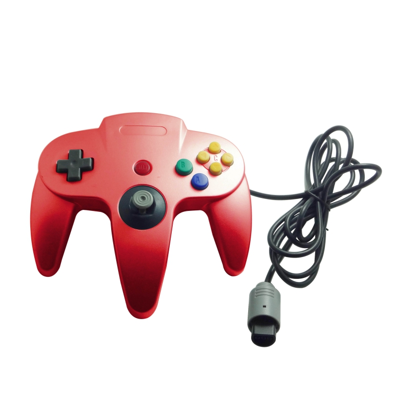 For Nintendo 64 Controller Joystick N64 Mario Kart Gamepad Joypad Long Wired Red | eBay