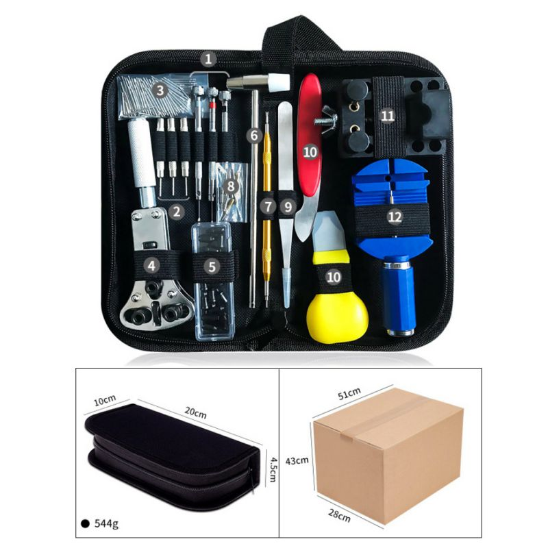 16-147PCS-Watch-Repair-Tool-Kit-Case-Opener-Spring-Bar-Tool-Remover-with-Case thumbnail 11