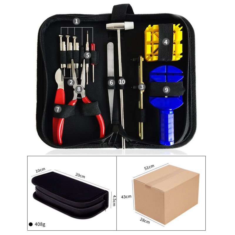 16-147PCS-Watch-Repair-Tool-Kit-Case-Opener-Spring-Bar-Tool-Remover-with-Case thumbnail 15