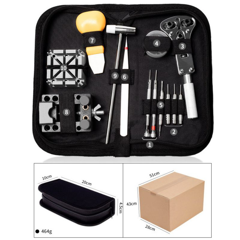 16-147PCS-Watch-Repair-Tool-Kit-Case-Opener-Spring-Bar-Tool-Remover-with-Case thumbnail 17