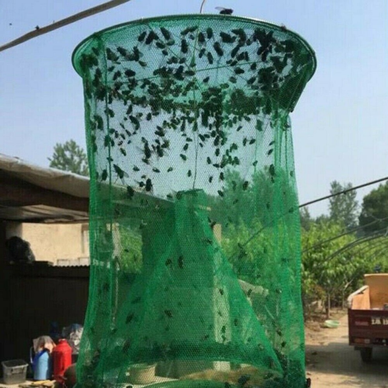 Reusable Ranch Fly Catcher Killer Cage Net Trap Insert Bug P
