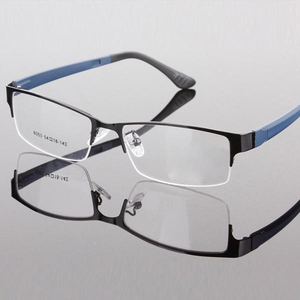 fashion metal frame half designer clear lens eye