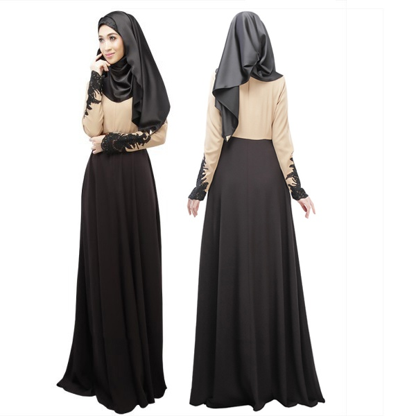 Maxi dress with sleeves muslims