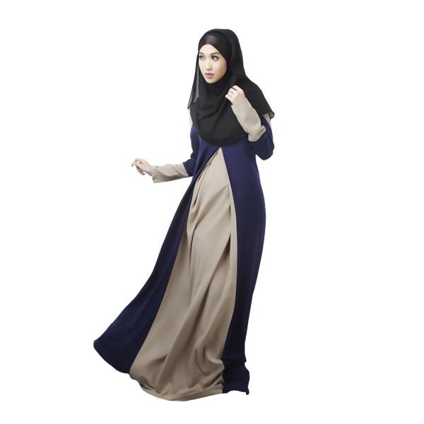 Kaftan abaya islamic muslim cocktail womens long sleeve evening maxi dress