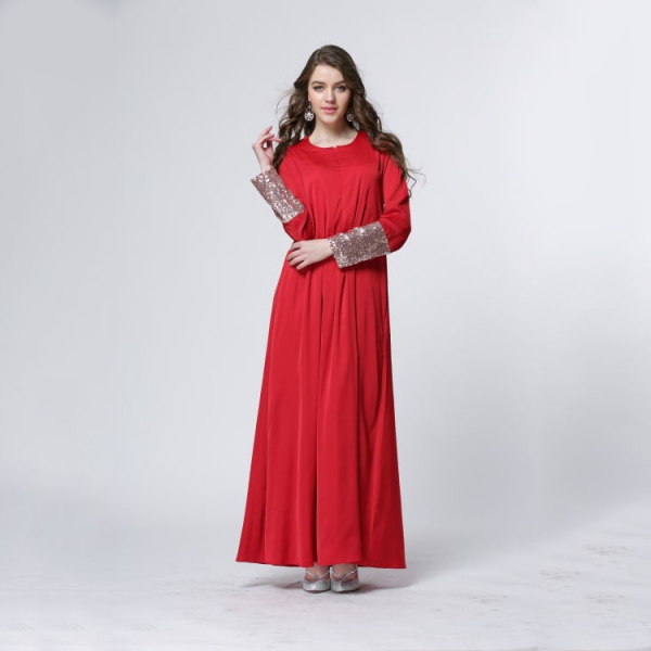 Women Vintage Islamic Kaftan Abaya Muslim Cocktail Party Long Sleeve Maxi Dress Ebay