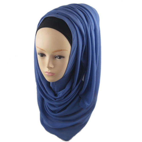 Chiffon Head Cover Hijab Islamic Headwear Scarf Arab Cap ...