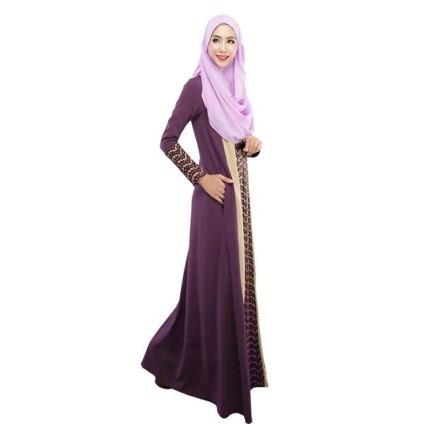 Women muslim dress jilbab islamic maxi dress vintage long sleeve abaya kaftan Retro style fashion for muslimah