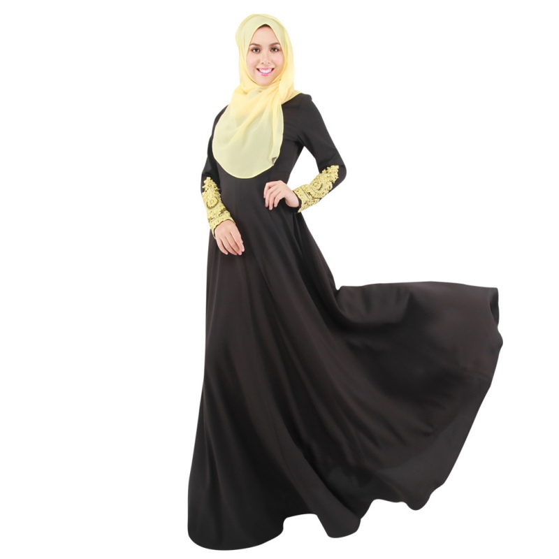 Simple Muslim Women Fashions Pleated Skirt Muslim Women Fashion Trend