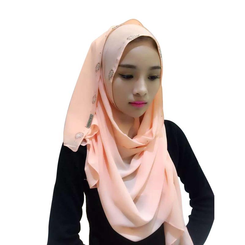 pearl muslim single women 2017 fashion female beanies hat diamond pearl muslim stretch turban hat chemo cap hair loss head scarf wrap women's winter hats.