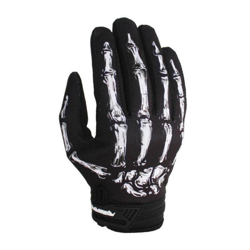 Biker Skeleton Bone Gloves Racing Cycling Motorcycle Mechanics Goth Full Finger