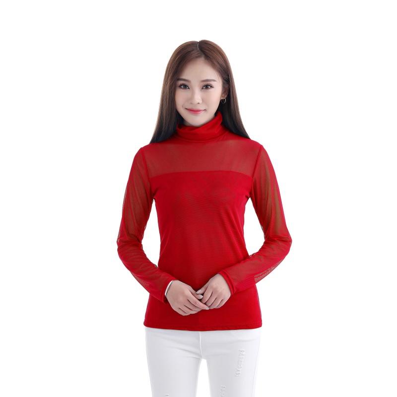 Sexy musilm women see through sheer mesh long sleeve tee t shirt tops blouse ebay - Tee shirt sexy ...