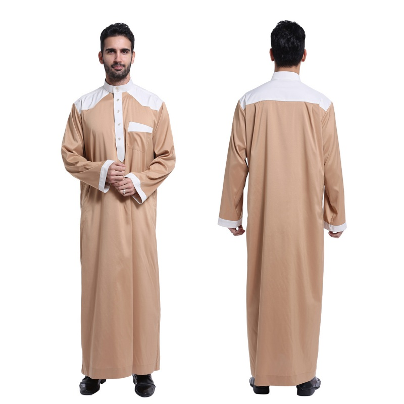 Men's Costumes Thawb Saudi men wear a full-length, loose garment with long sleeved called thawb. The normal color is white. It is made from cotton or a a polyester mix.