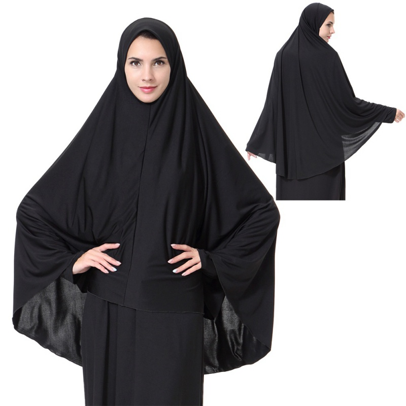 Muslim Women Prayer Dress Long Scarf Hijab Jilbab Islamic Large Overhead Clothes