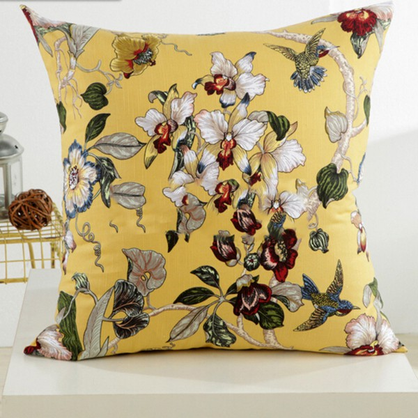 square vintage geometric flower throw pillow case cushion co