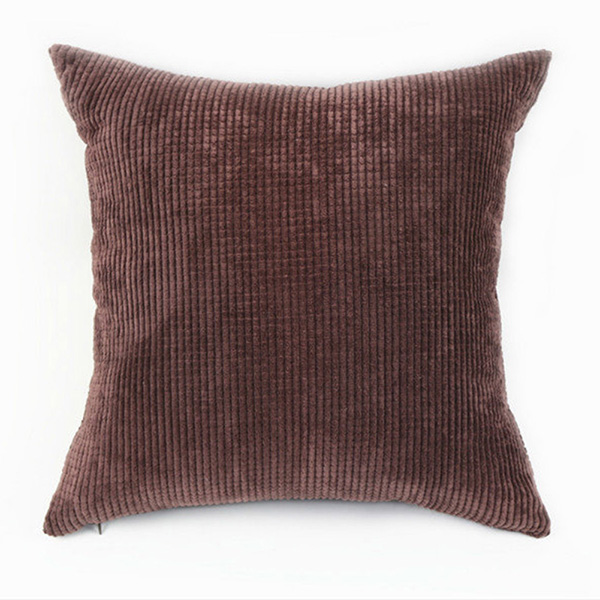 Large Square Decorative Pillow Covers : Big Square Corduroy Throw Sofa Pillow Case Cushion Cover Home Sofa Decor 55X55cm eBay