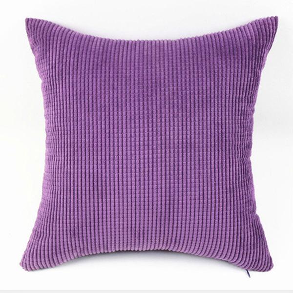 Big Square Throw Pillows : Big Square Corduroy Throw Sofa Pillow Case Cushion Cover Home Sofa Decor 55X55cm eBay