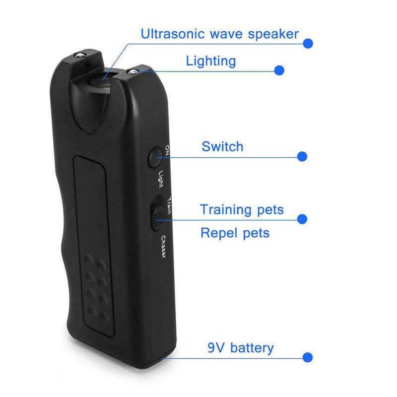 Pet Dog Ultrasonic Anti Barking  Trainer Gentle Led Light Chaser-Style Petgentle 8