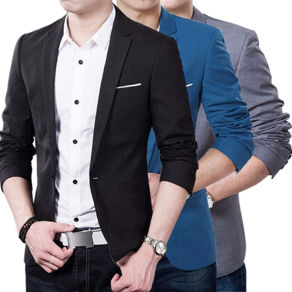 Image Is Loading Fashion Men Formal Casual Slim Fit One Button