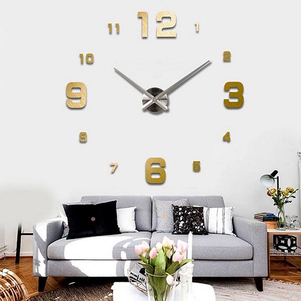 3D Wall Clock Creative Watch Modern Design