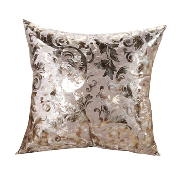 Throw Pillow Case Size : Retro Floral Print Square Throw Pillow Case Sofa Bed Decor Cushion Cover 2 Size