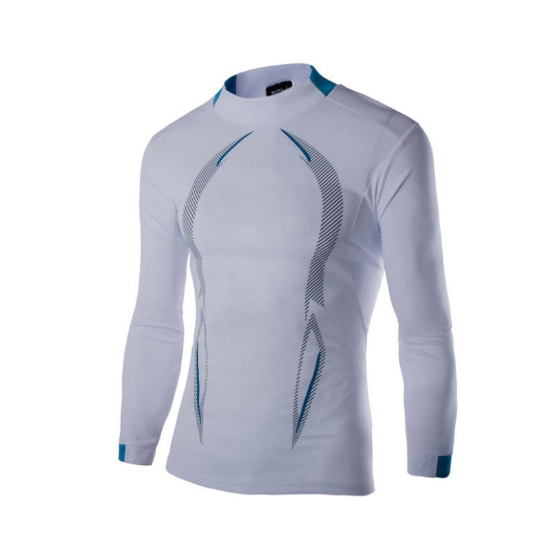 Sports Men Fitness Compression T Shirt Thermal Under Base