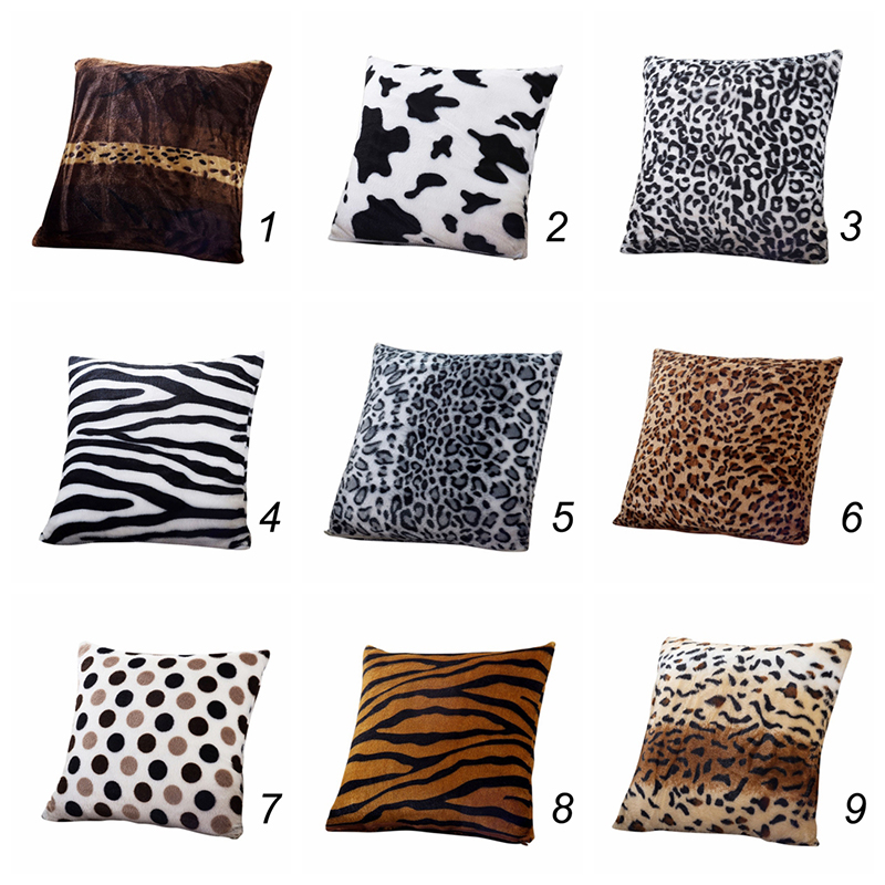 Animal Zebra Leopard Printed Pillow Case Sofa Throw Cushion Cover Home Decor Hot eBay