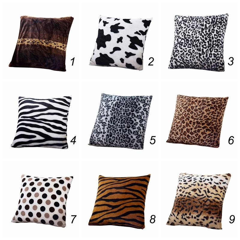 animal zebra leopard printed pillow case sofa throw