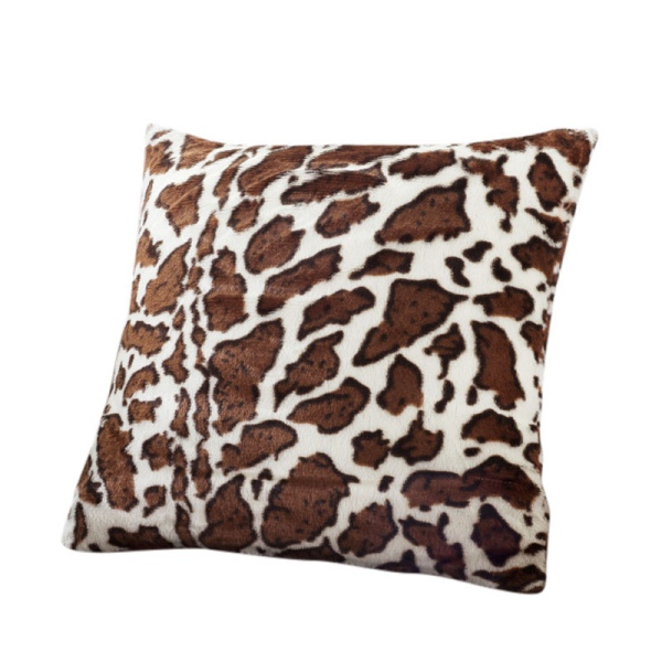 new leopard pattern faux fur decorative sofa throw pillow cover cushion case ebay. Black Bedroom Furniture Sets. Home Design Ideas