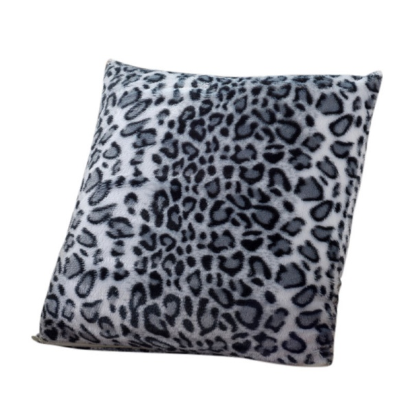 New Leopard Pattern Faux Fur Decorative Sofa Throw Pillow Cover Cushion Case Ebay