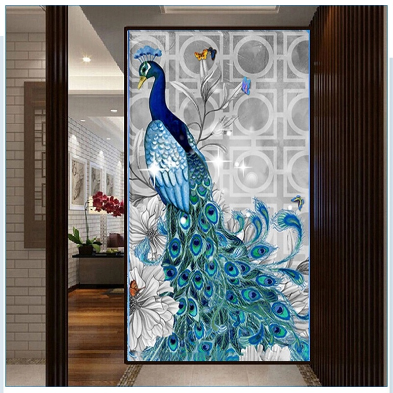 Diy 5d diamond embroidery painting flower animal cross for Home decor crafts