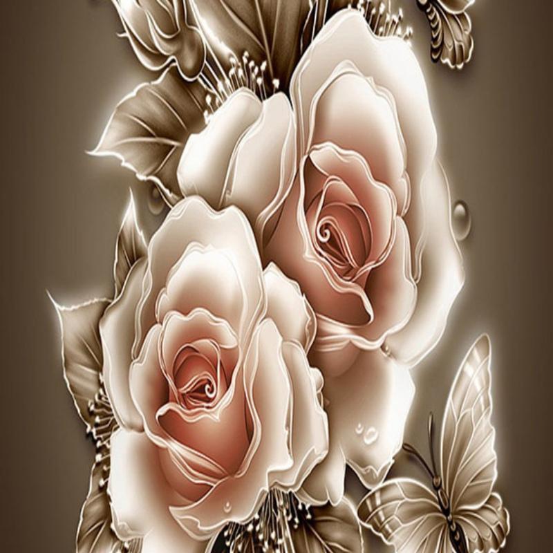 uk diy5d diamond embroidery painting home decor craft flower
