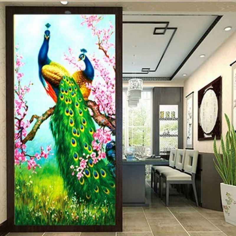 Diy 5d diamond embroidery painting flower animal cross for Home decor 5d