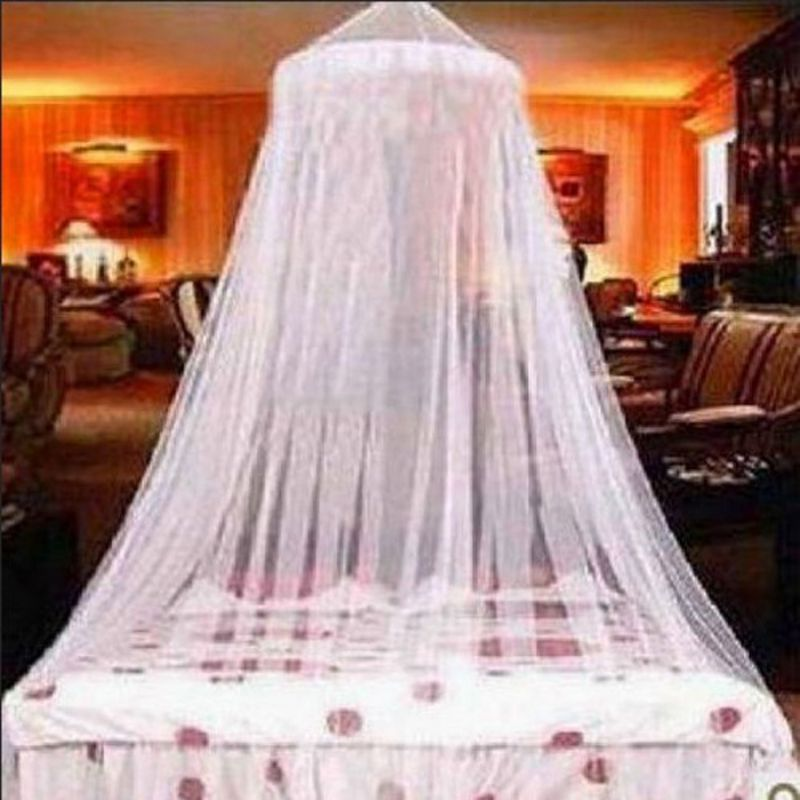 US-Elegant-Princess-Lace-Bed-Mosquito-Netting-Mesh- - US Elegant Princess Lace Bed Mosquito Netting Mesh Canopy Round