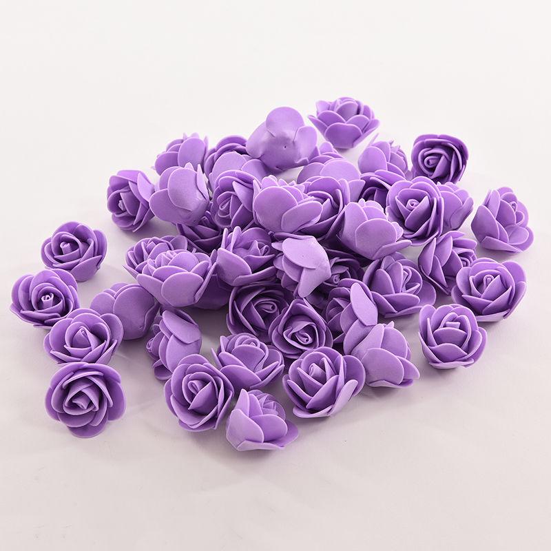 50pcs Set Handmade Mini Artificial Roses Foam Flower