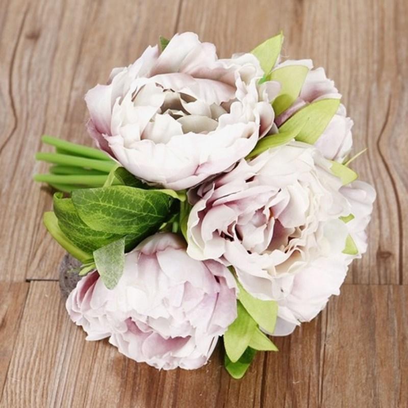 Artificial Bunch Rose Fake Silk Flowers Wedding Home Decor Bridal ...