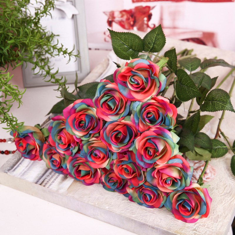 Pretty Diy Artificial Silk Fake Flowers Leaf Peony Floral Wedding