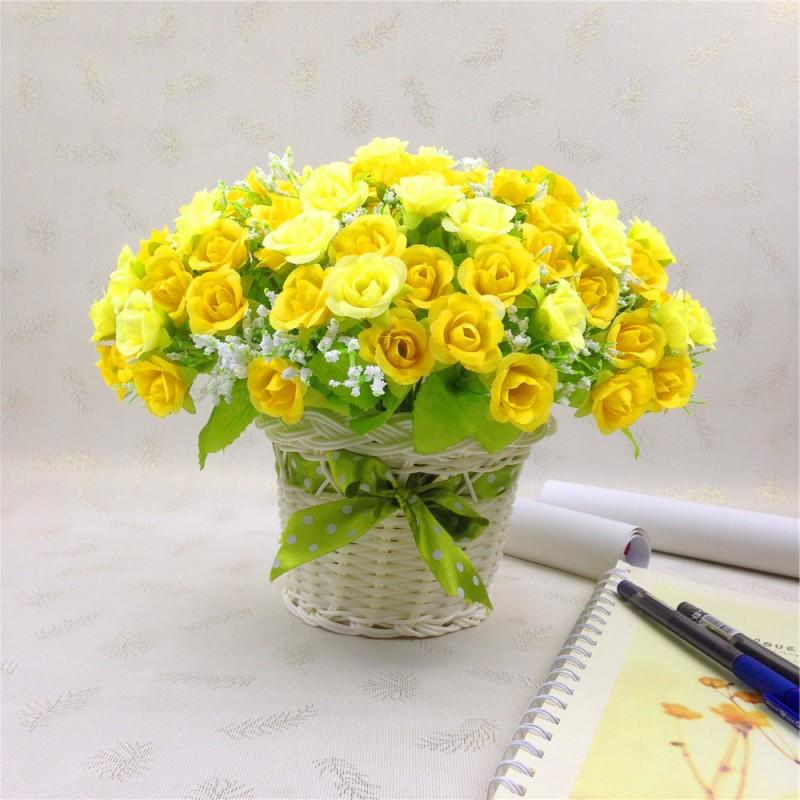 Bouquet Artificial Hydrangea Wedding Party Fake Silk Flowers Home ...
