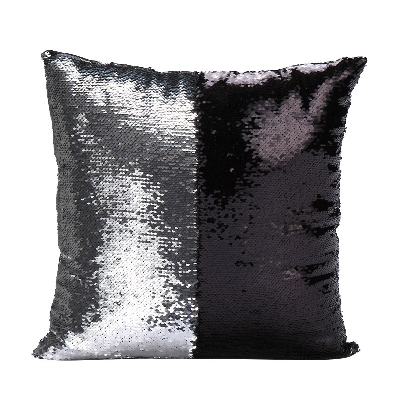 UK Reversible Glitter Sequins Throw Pillow Case Cafe Home Square