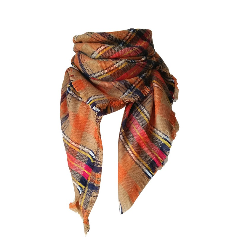 stylish lattice scarf winter warm soft