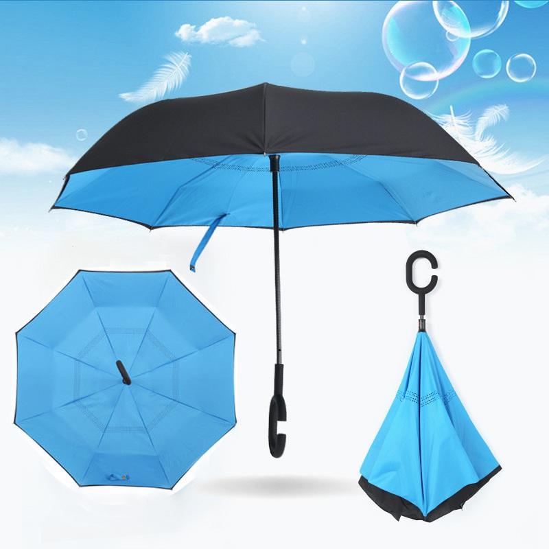 AU-Double-Layer-Upside-Down-Inverted-Umbrella-C-handle-Reverse-Design-Windproof thumbnail 32
