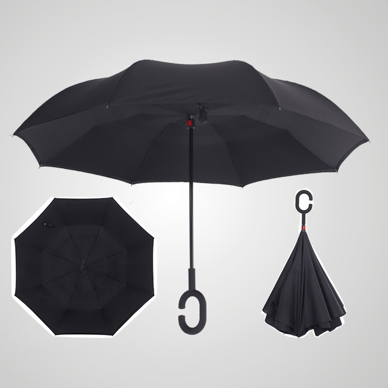 Au Double Layer Upside Down Inverted Umbrella C Handle